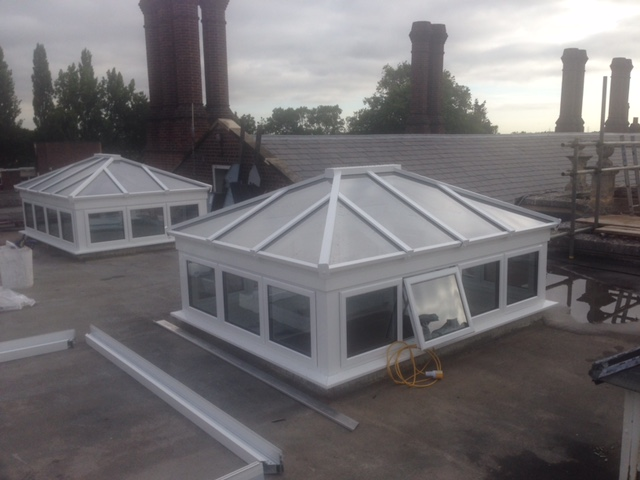 New commercial aluminium lantern roofs